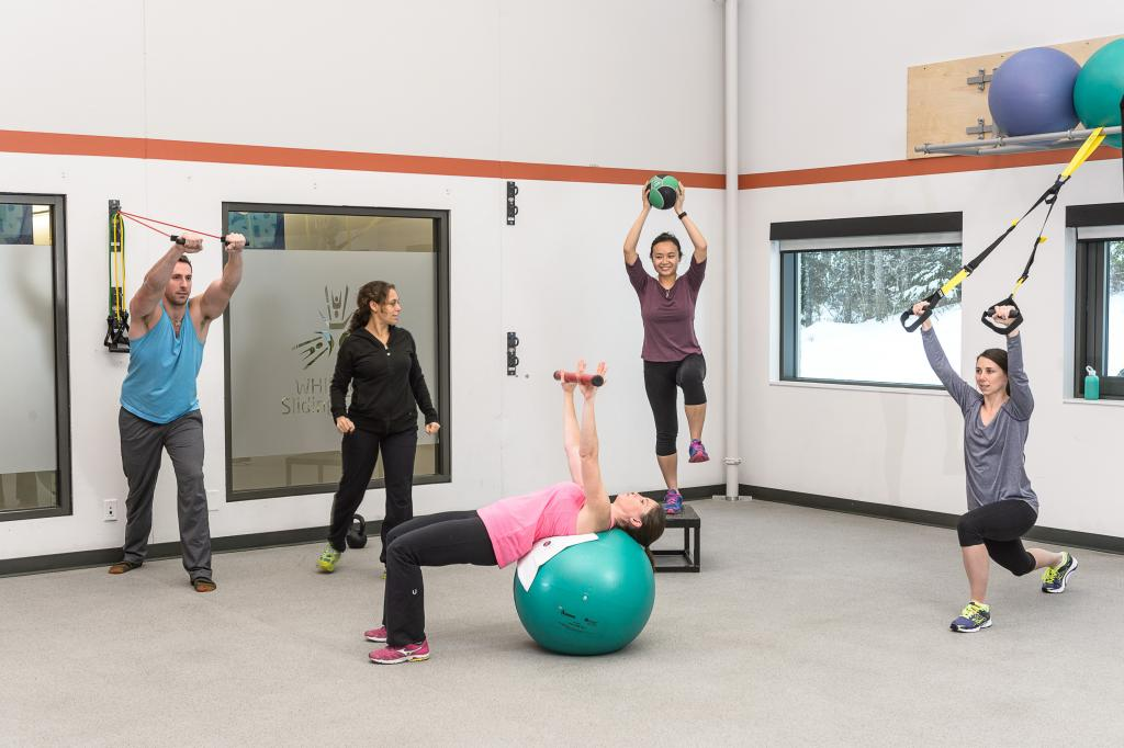 Class at HUB Fitness Whistler