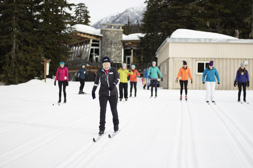 Cross country skiing lesson
