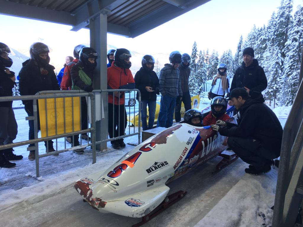 Beginner Bobsleigh instruction Whistler Sliding Centre