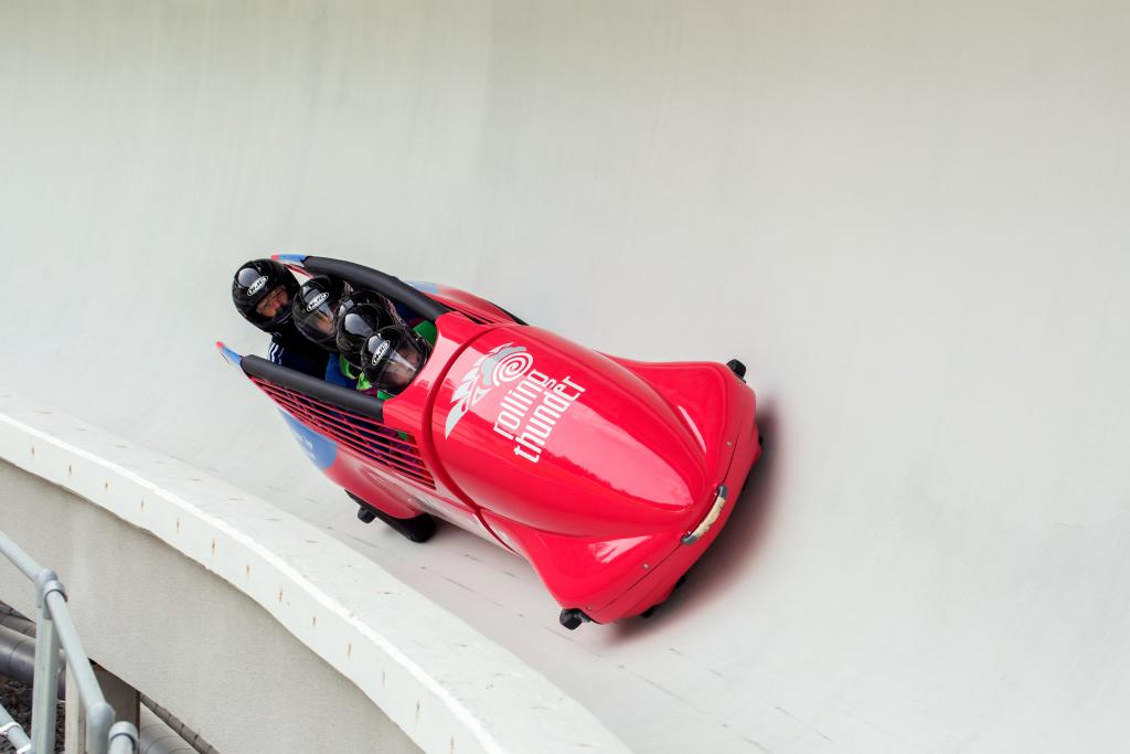 Summer bobsleigh at the Whistler Sliding Centre