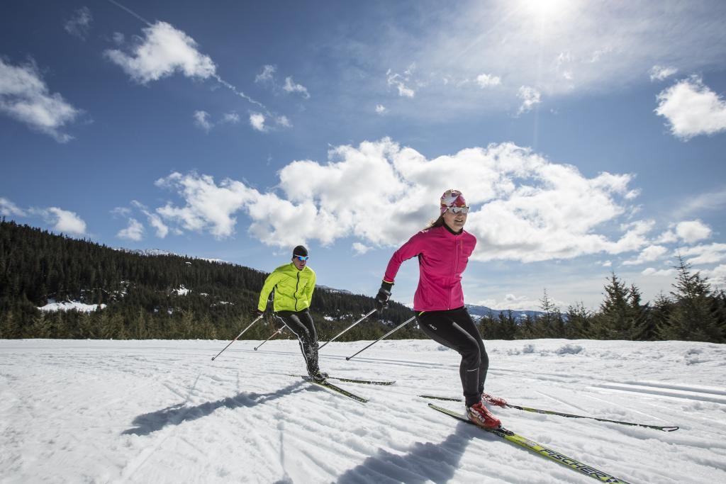 Cross country skiing at Top of the World