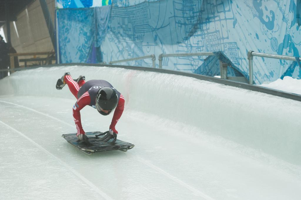 Skeleton athlete at Whistler Sliding Centre