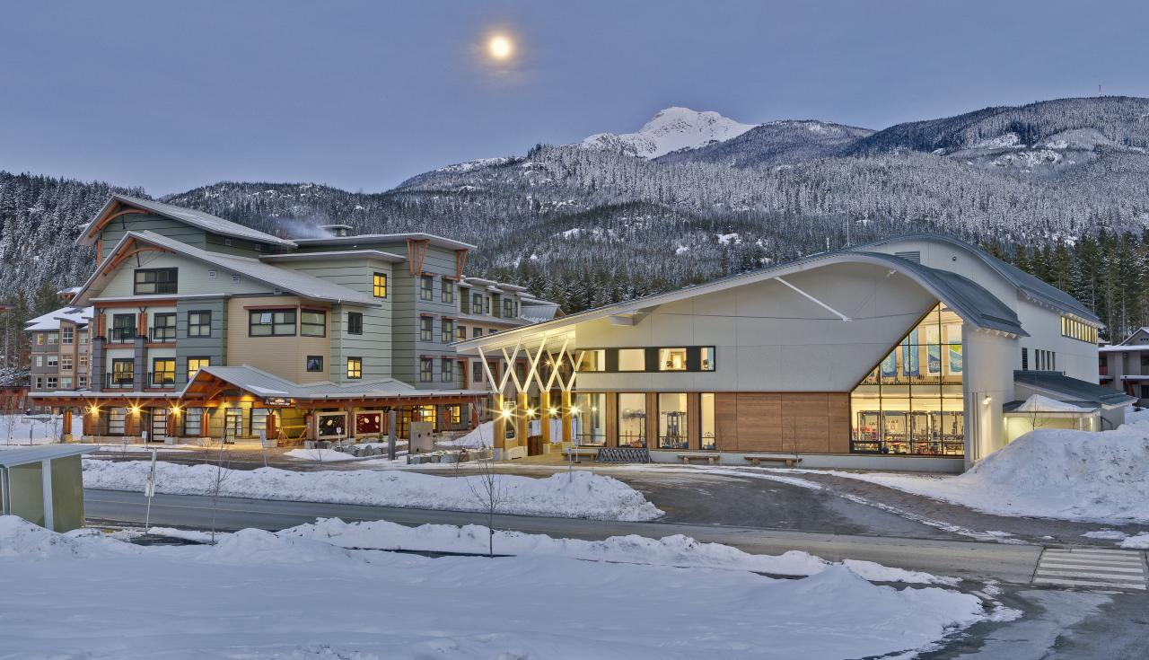 Whistler Athletes' Centre facility in winter