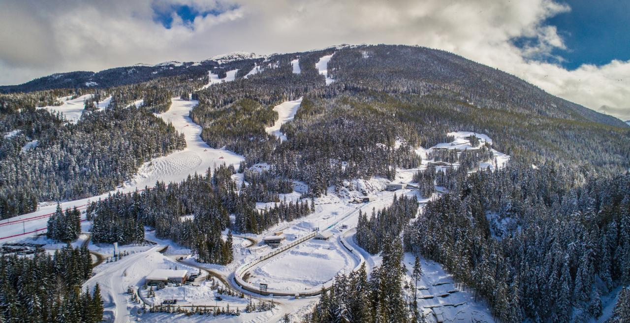 Aerial photo Whistler Sliding Centre