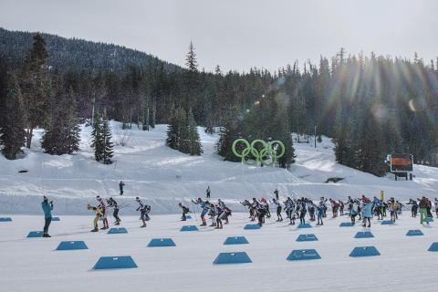 Payak Cross Country Ski Race Whistler Olympic Park