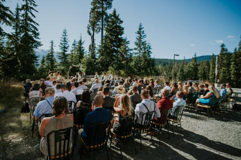 Wedding ceremony at Whistler Olympic Park