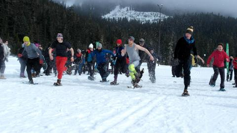 Winter corporate biathlon 4