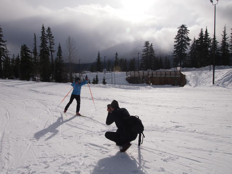 Photographer and Cross country skier
