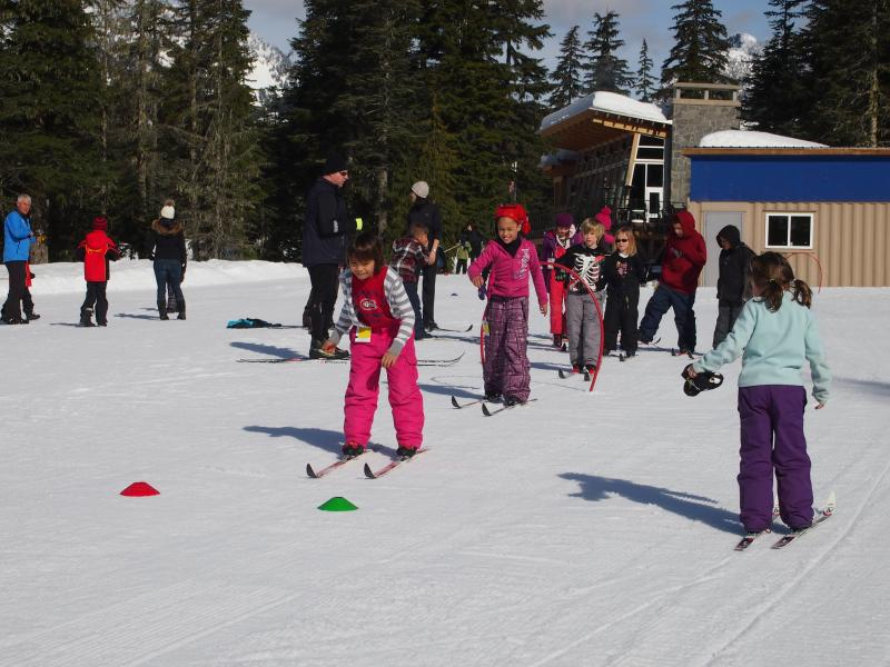 School group at Whistler Olympic Park