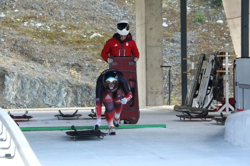 Skeleton at Start, Whistler Sliding Centre