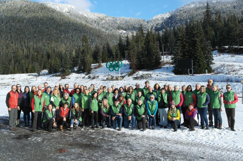 Volunteers at Whistler Olympic Park